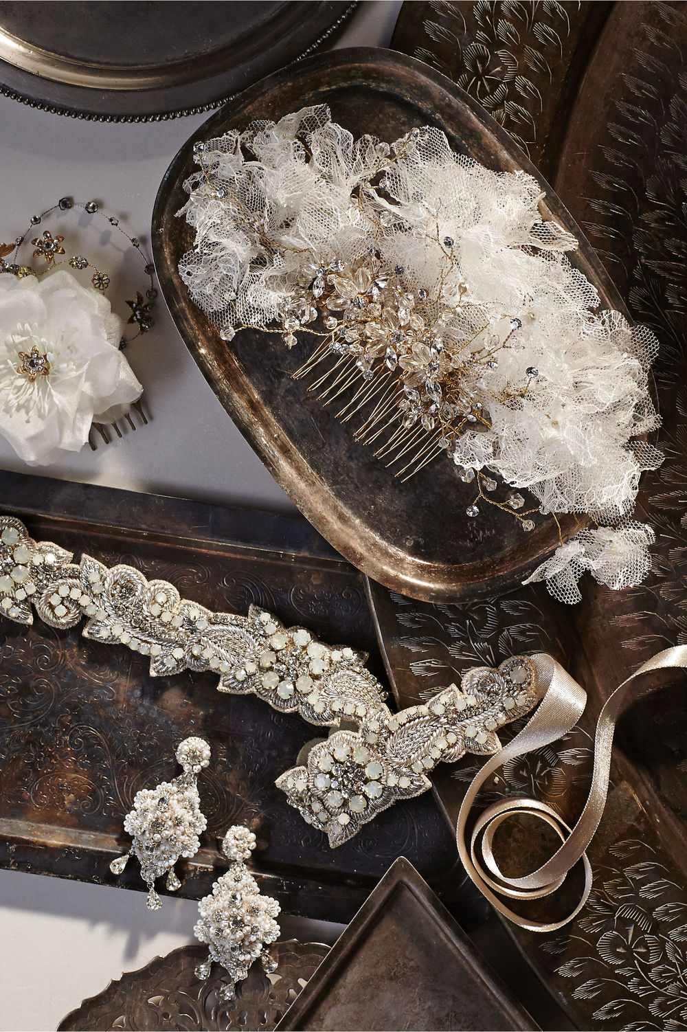 edera jewelry crochet crystal earrings for BHLDN