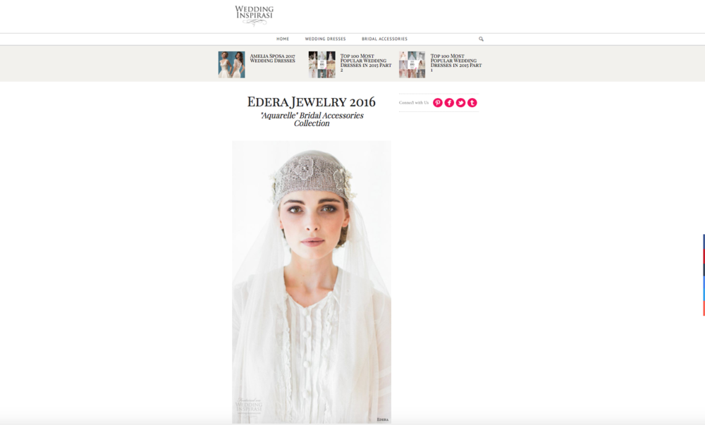 Aquarelle Collection Featured on Wedding Inspirasi