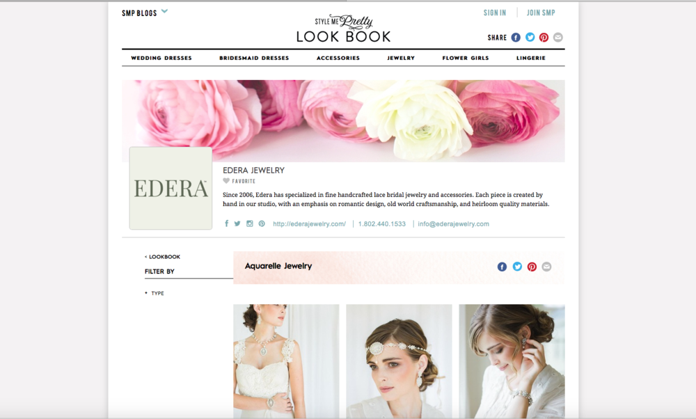 Featured on Style Me Pretty Look Book