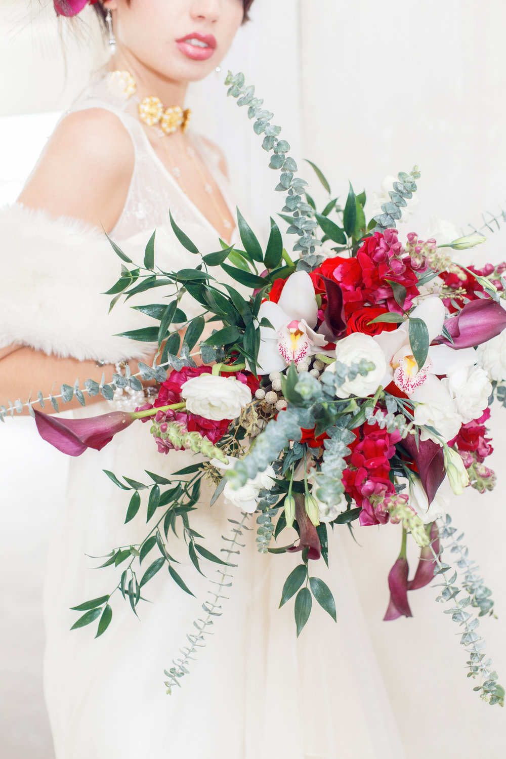 Burgundy and Green Vintage Russian Wedding | Edera Jewelry Blog