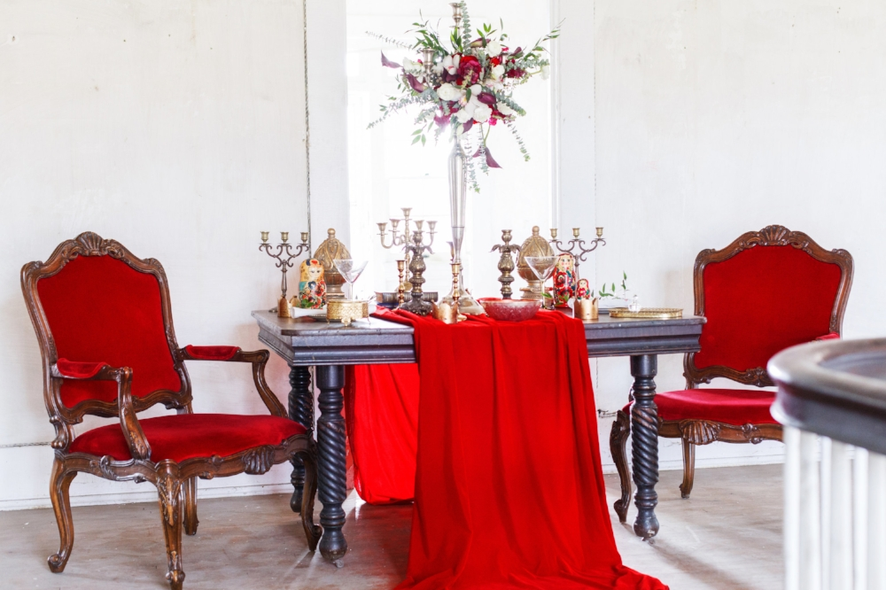 Old Russia Wedding Inspiration with Red Accents | Edera Jewelry Blog