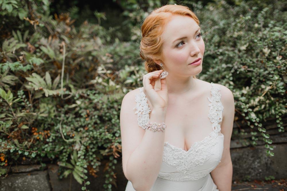 Damask Rose Earrings & Bracelet