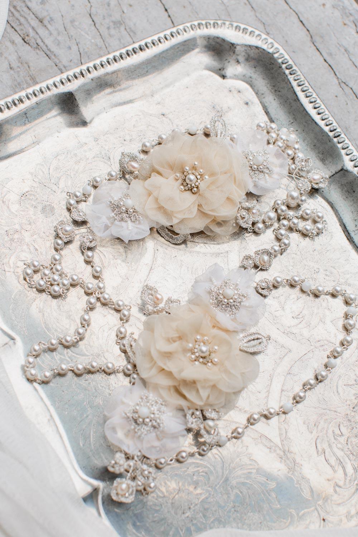 Tea Rose Shoulder Necklace