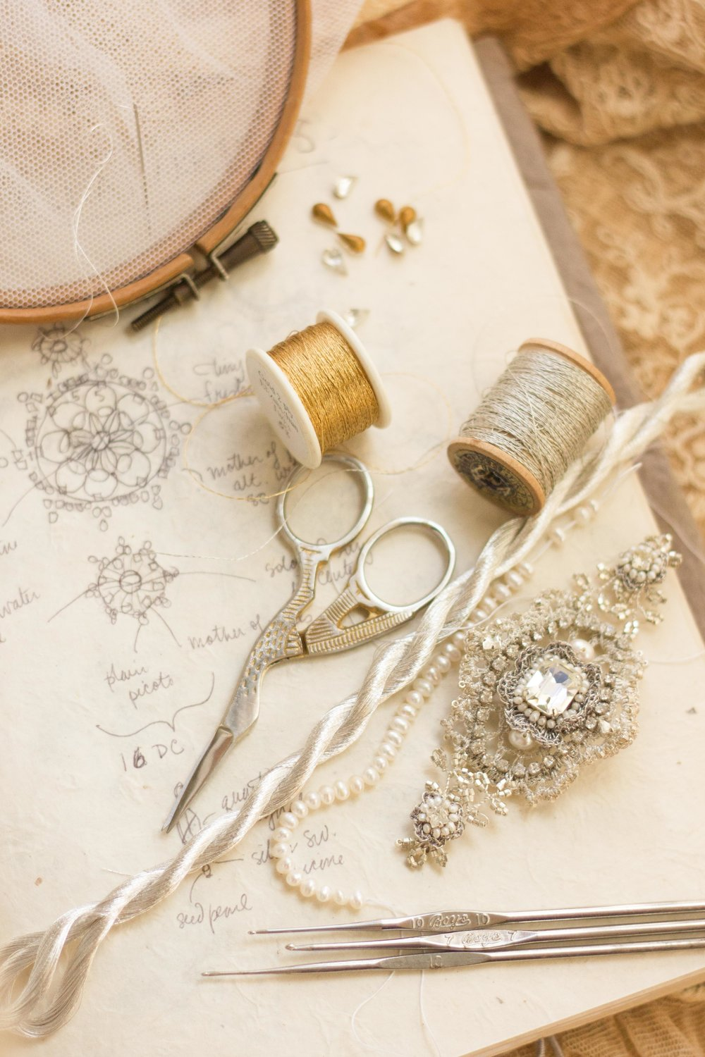 About Us - Couture techniques and heirloom materials