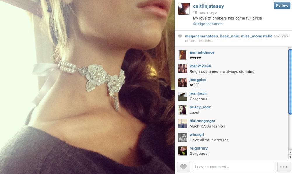 Caitlin-Stasey-wearing-Edera-Choker-Necklace
