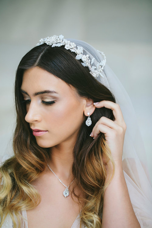 Trevi Earrings Edera Couture Lace Bridal Jewelry Accessories