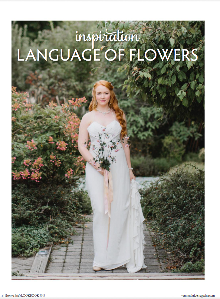 Edera Language of Flowers Collection featured in Vermont Bride Magazine