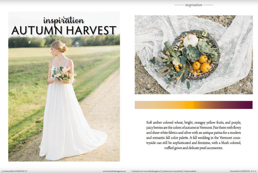 Edera designs featured in Vermont Bride Magazine