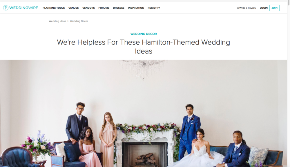 Edera designs featured on WeddingWire
