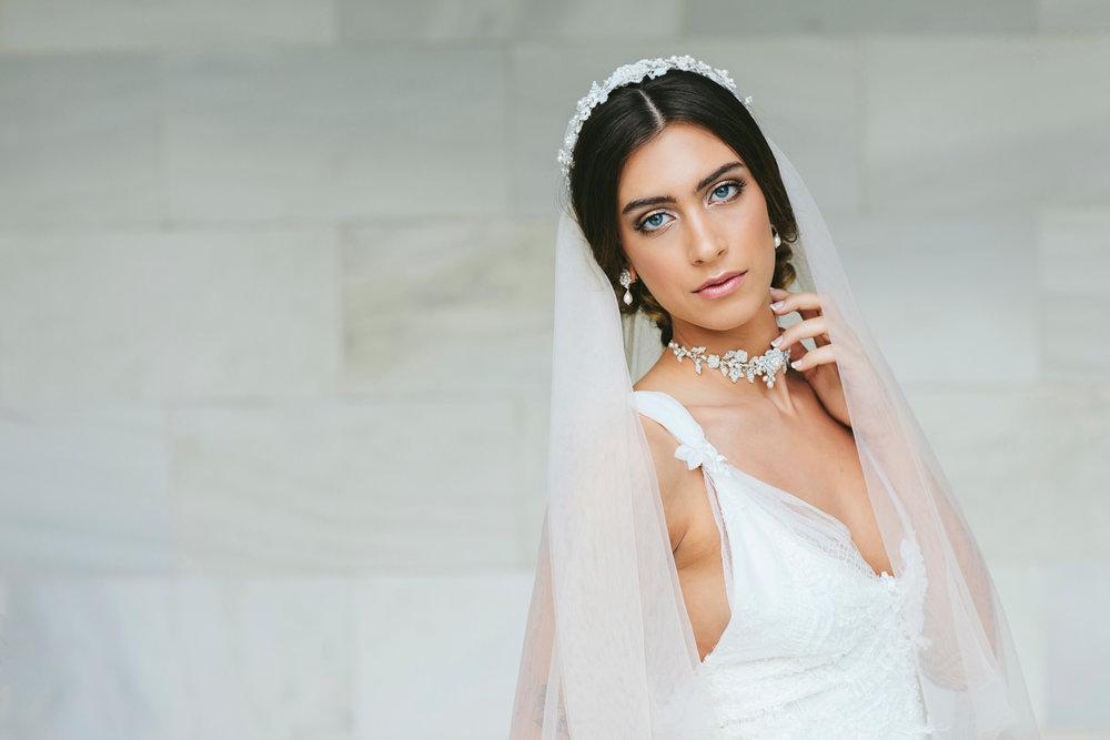 Verona Juliet Cap Veil & Siena Choker