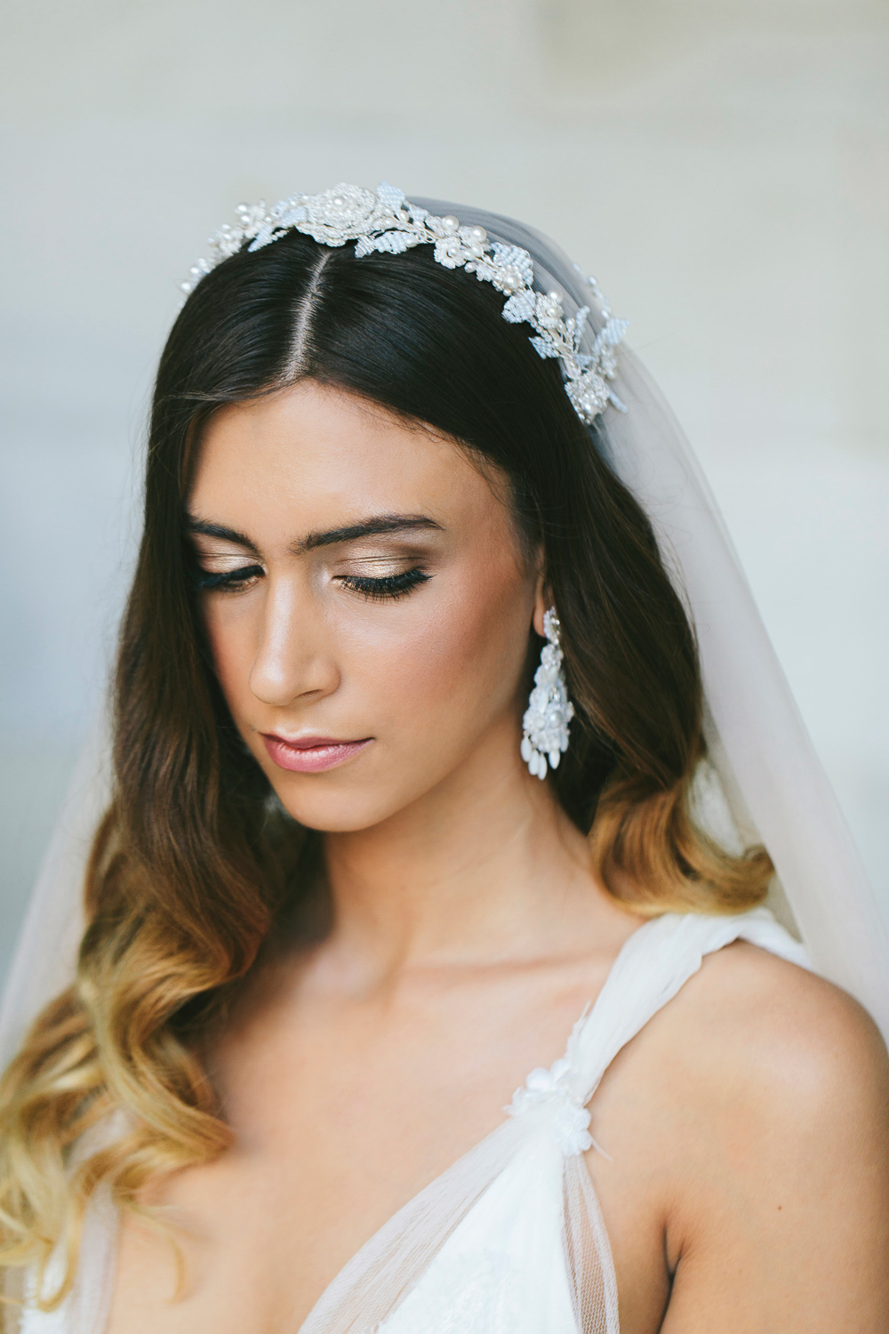 Verona Veil & Venezia Earrings