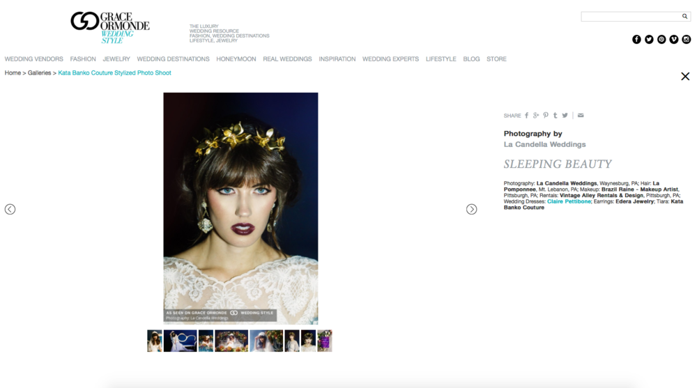 Edera Jewelry earrings featured on Grace Ormonde Weddings.