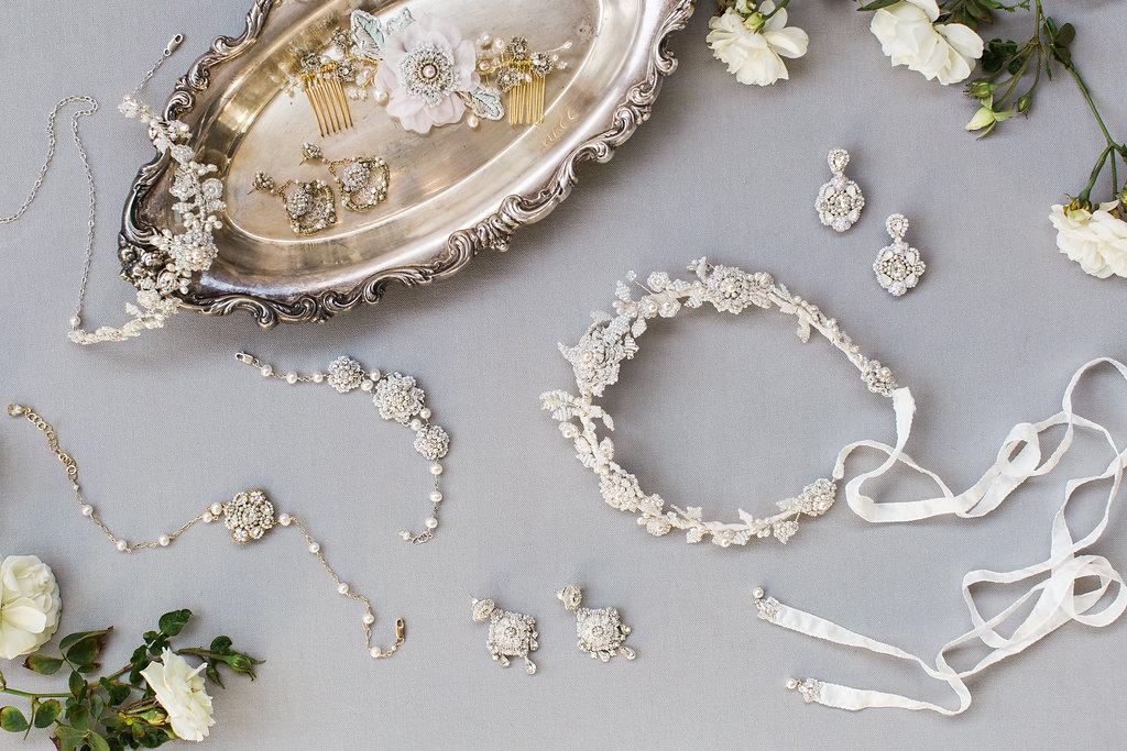 Edera   Couture Lace Bridal Jewelry & Accessories