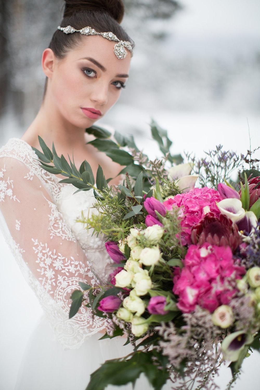 Edera Jewelry Blog | Crystal Winter Wedding Headpiece