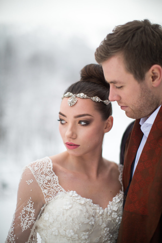 Edera Jewelry Blog | Winter Wedding Hair Accessories