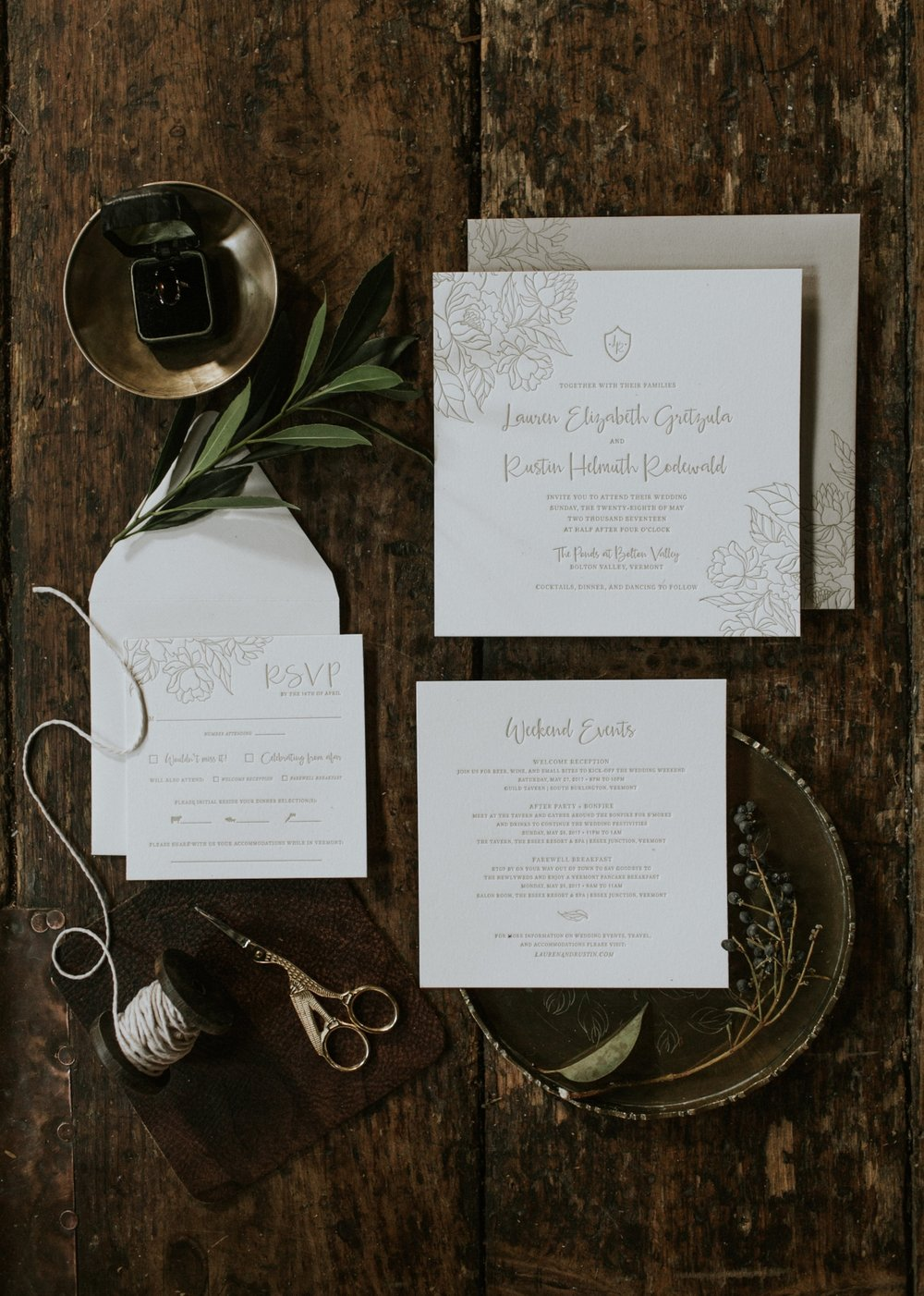 Edera Jewelry Blog: Bohemian Winter Wedding Inspiration in Berkshires