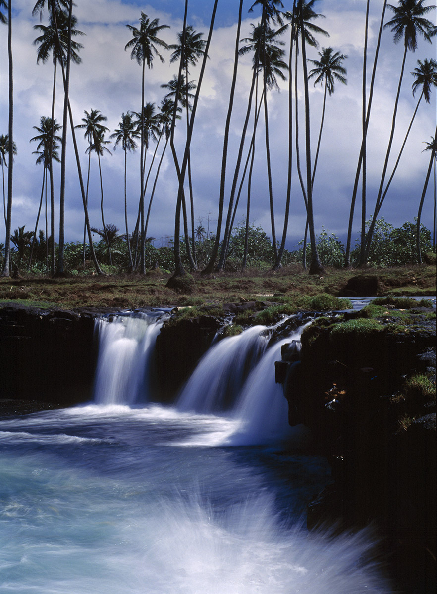 shoreline waterfall, Savai'i, Samoa