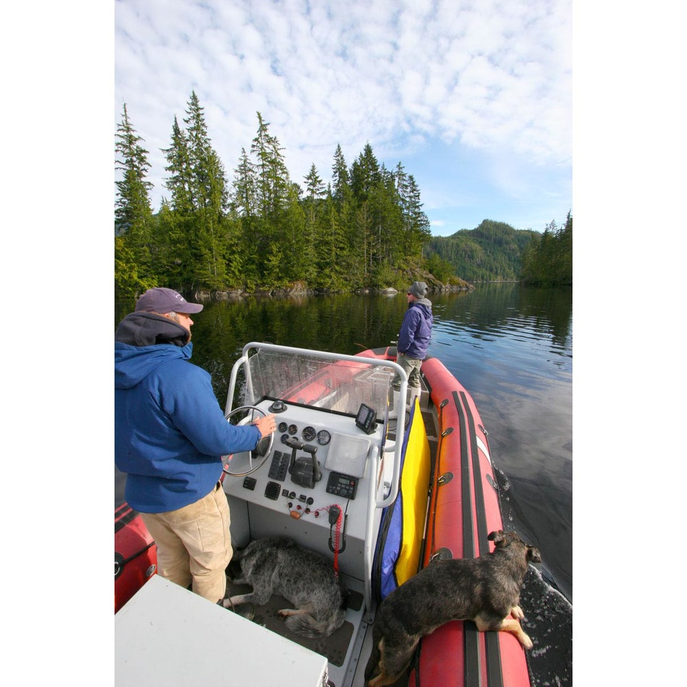 exploring by boat, Nootka