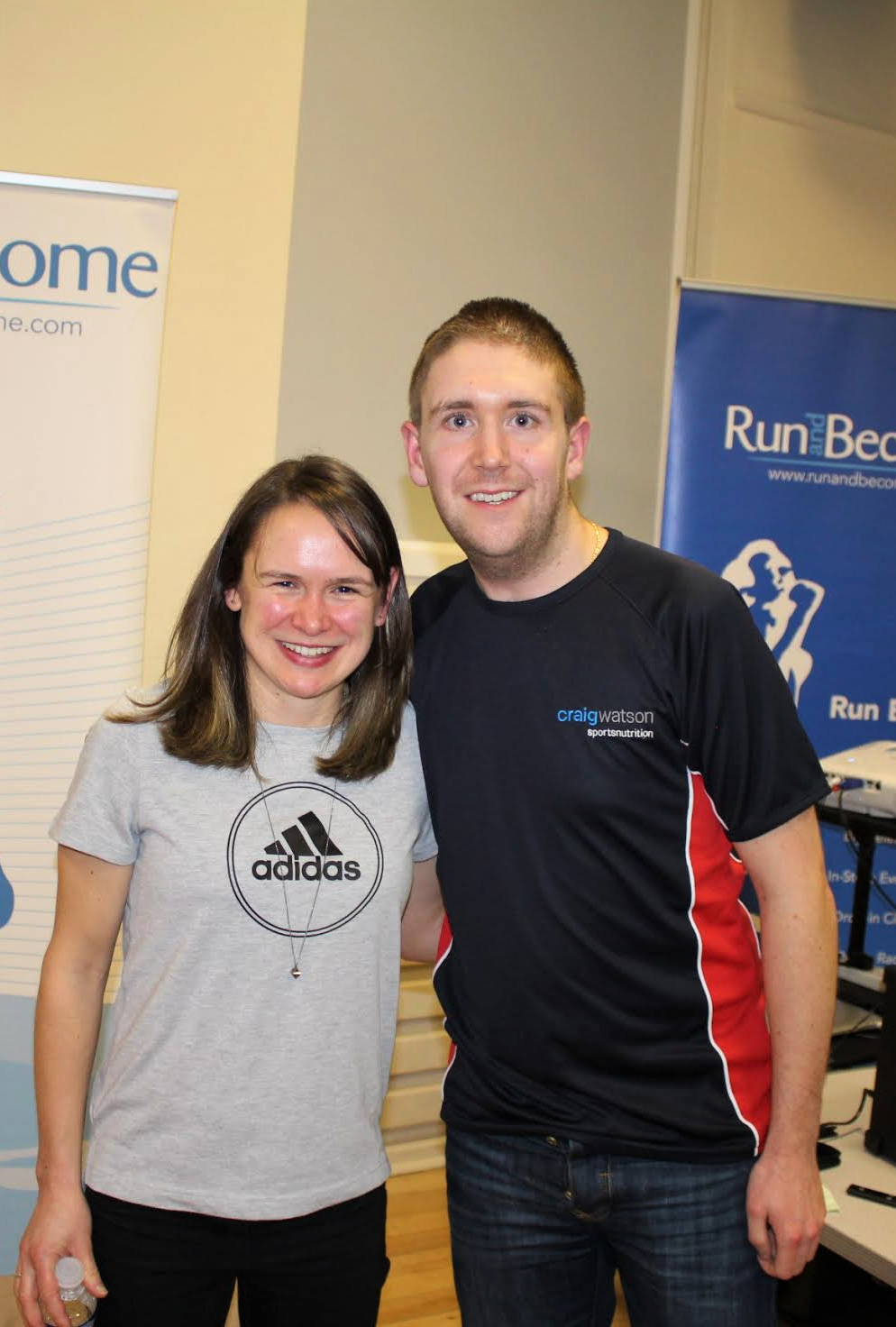 Craig with Olympic marathon runner Freya ross