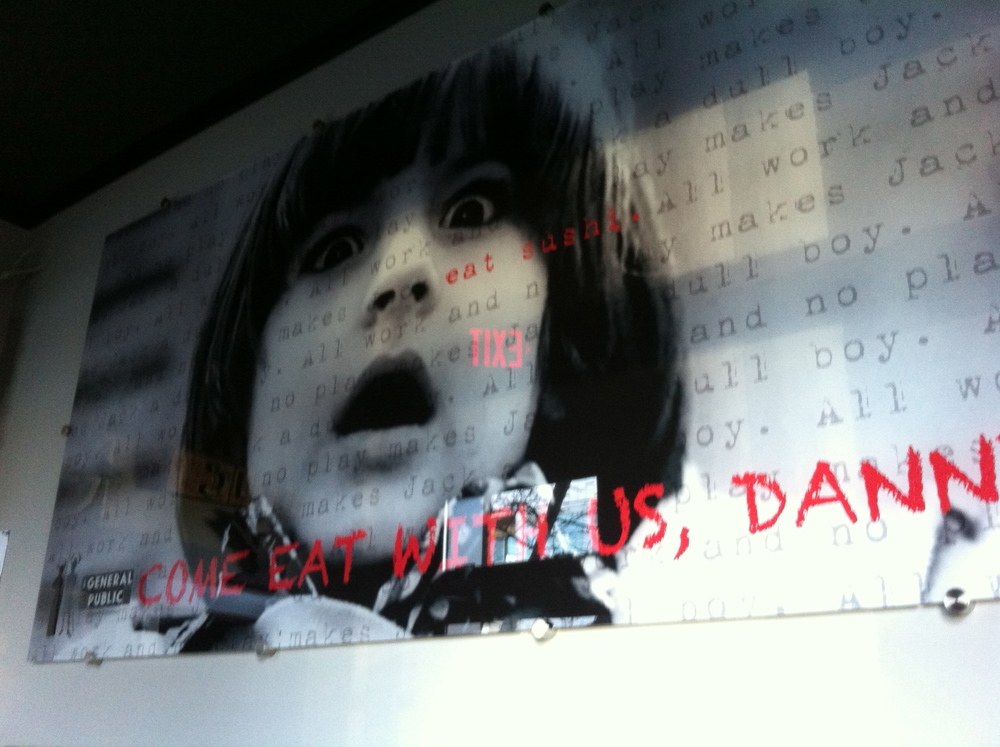 "Come Eat with Us Danny?  Installed at THE GENERAL PUBLIC EATERY on Main 17th Vancouver BC. Material: 48"" x 96"""