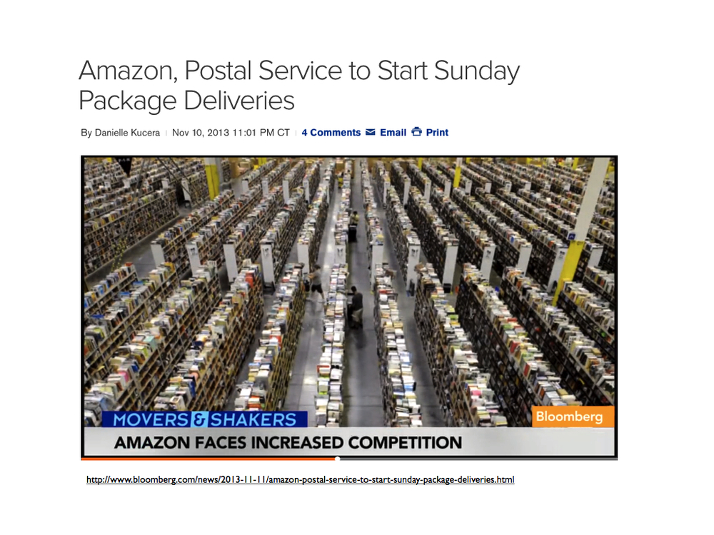 Package traffic has been rapidly growing due to increasing volume of online shopping.USPS faces a unique situation and will need to reinvent their position to stay relevant in the age of information.