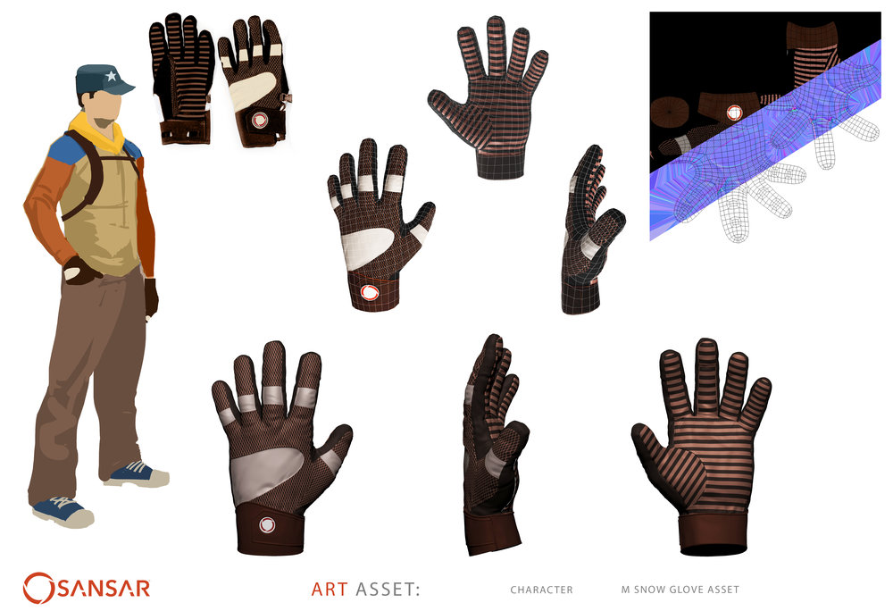 Male Snow Glove Asset