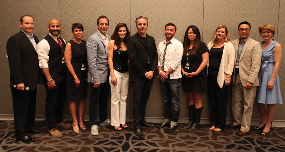 The line up speakers at the Oribe Owners' Exchange.