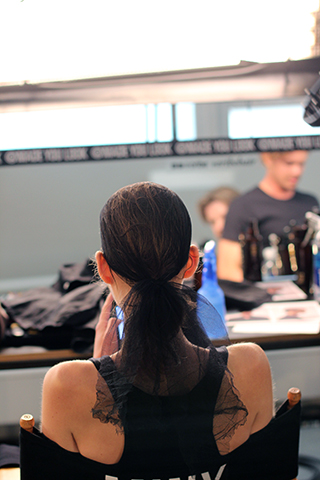 TIM COPPENS | NYFW | SS2015 | ORIBE HAIR CARE  Key Hair: Yannick D'IS. Hair: Oribe Hair Care Team, Kien Hoang for Oribe Hair Care. Nathan Nguyen | Umbrella Salon  Photos courtesy of Oribe.com