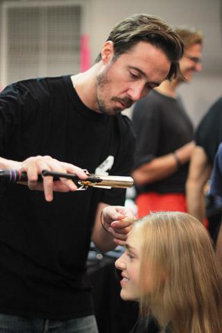 THEYSKENS THEORY | NEW YORK FASHION WEEK | SPRING/SUMMER 2015  Key Hair: Paul Hanlon. Oribe Hair Care Team. Kien Hoang for Oribe Hair Care.  Photo courtesy of Oribe.com