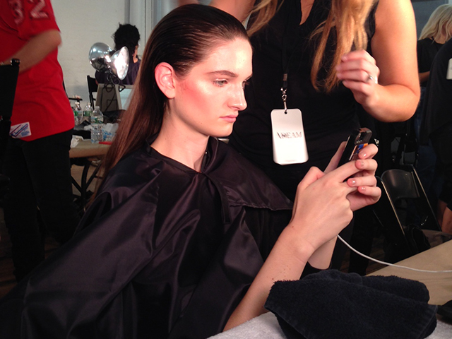 ADEAM | NEW YORK FASHION WEEK | SPRING/SUMMER 2015 | ORIBE HAIR CARE  Key Hair: Yannick D'Is. Oribe Hair Care Team. Nathan Nguyen for Umbrella Salon. Special thanks to Talia Thomas of Oribe Hair Care.  Photo courtesy of Oribe.com