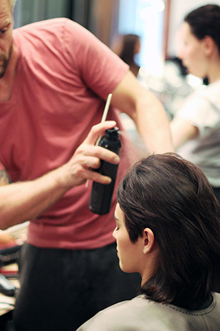 VERONICA BEARD | BACKSTAGE NYFW | SS 2015 | ORIBE HAIR CARE  Key Hair: Rutger. Hair: Oribe Hair Care Team. Anjelika Martinez for Umbrella Salon. Special Thanks to Talia Thomas of Oribe Hair Care.  Photo courtesy of Oribe.com