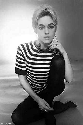 """Edie Sedgwick (1960s)   """"Edie is an iconic image for hair. Her blonde hairstyle was graphic and mod, portraying the '60s era. She was like a gritty, New York version of Twiggy.""""– Coby for Oribe Hair Care"""