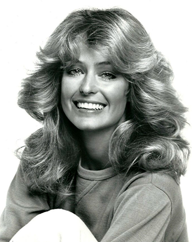 """Farrah Fawcett (1970s)   """"Farrah had a huge impact, especially in salons. Everybody was talking about her and wanted her blonde highlights, short layers and volume. She was a really big deal.""""– Ronnie Stam for Oribe Hair Care"""
