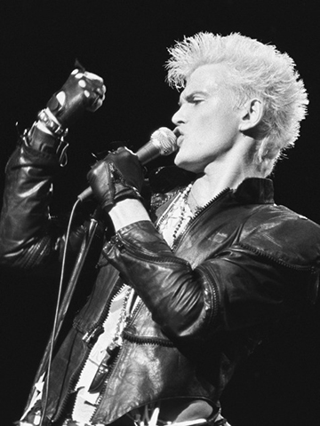 """Billy Idol (1970s/1980s)   """"Billy Idol was a rock 'n' roll blonde with bleached hair that was spiked out. He made being blonde like a rebellion.""""– Kien for Oribe Hair Care"""