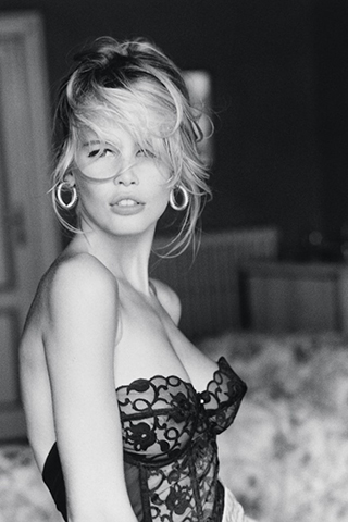 """Claudia Schiffer (1990s)   """"As the Guess Jeans girl, Claudia was an extension of Brigitte Bardot and Sophia Loren. She was a happy blonde and, at that time, she was the only iconic blonde supermodel."""" – Ronnie for Oribe Hair Care"""