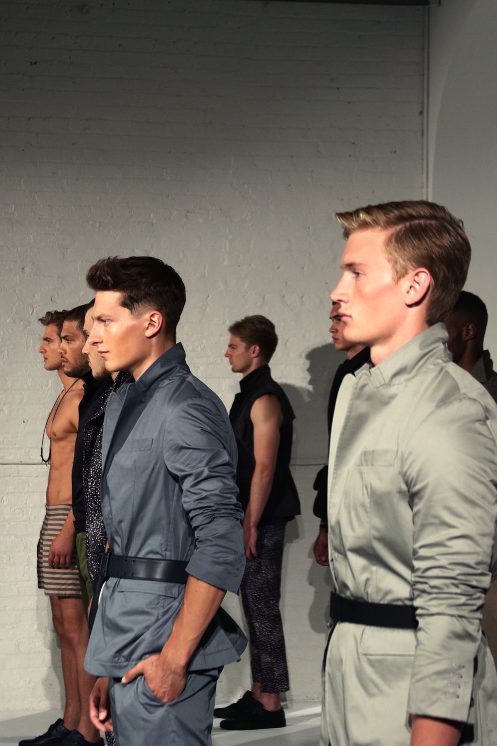 NEW YORK FASHION WEEK MENS #NYFWM | CADET | SPRING/SUMMER '16  Featuring: CADET @cadetusa // Key Hair: Nathan Nguyen @nathanlibra for Oribe Hair Care @oribe // Hair Team: Oribe Hair Care Team | Umbrella Salon @umbrellasalon @industriasuperstudio Photo by: Anthony Deeying