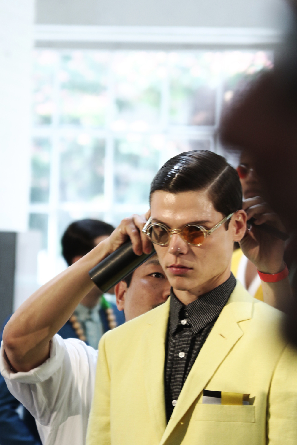 NEW YORK FASHION WEEK MENS #NYFWM | DAVID HART NYC | SPRING/SUMMER '16  Featuring: David Hart NYC @davidhartnyc @cadillac // Key Hair: Kien Hoang @kienhoang for Oribe Hair Care @oribe // Hair Team: Oribe Hair Care Team | Roz Corpuz @lapetiterozay for Umbrella Salon @umbrellasalon @industriasuperstudio Photo by: Anthony Deeying