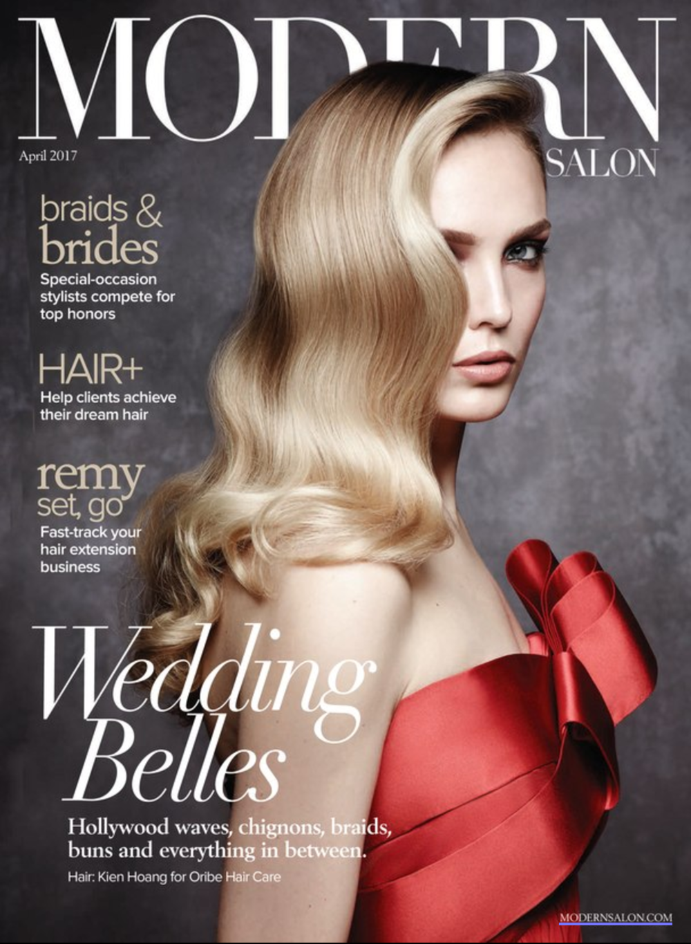 Modern Salon Cover | Hair By Kien Hoang for Oribe Hair Care | April 2017