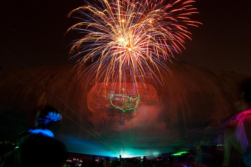 stone mountain fireworks lasers and fun loose leaf studio