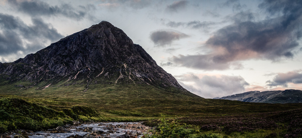 Sunrise on Buachaille Etive Mor & Glen Etive | August | 2014