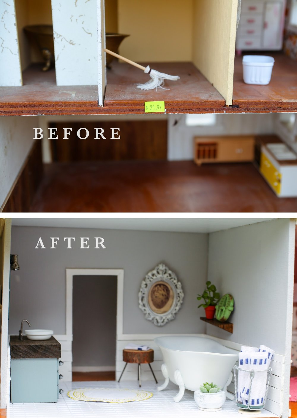 FIXER UPPER DOLLHOUSE BATHROOM