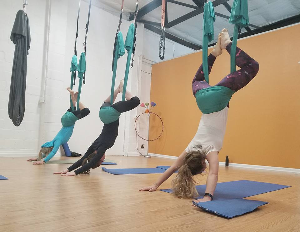 Come for a class.  Our new Aerial Fun and Fitness location is convenient to Chester Springs, Collegeville, Downingtown, Exton, King Of Prussia, Norristown, Pottstown, Royersford, and Valley Forge.  Photo credit: Autumn Cornell