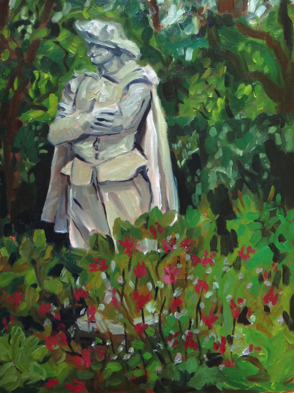 """Rubens"" Plein air, oil on canvas board, 2015."