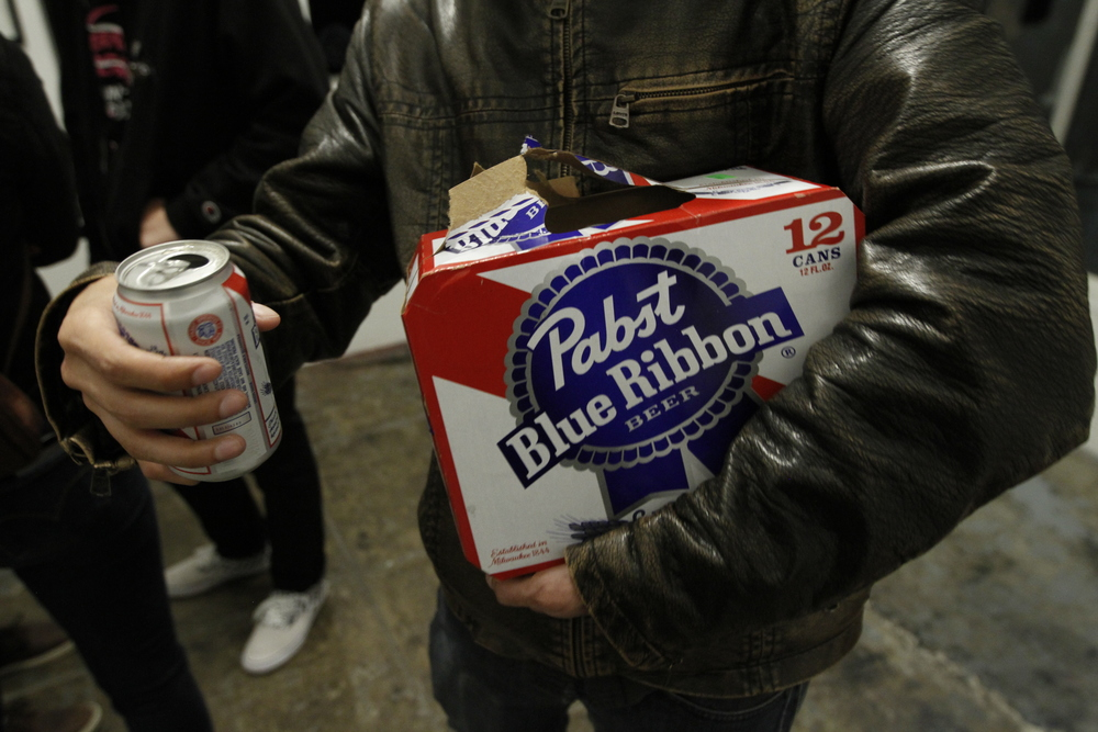 Shout out to PBR for the beers! Some folks even brought their own. Pic by Steven Andrew Garcia