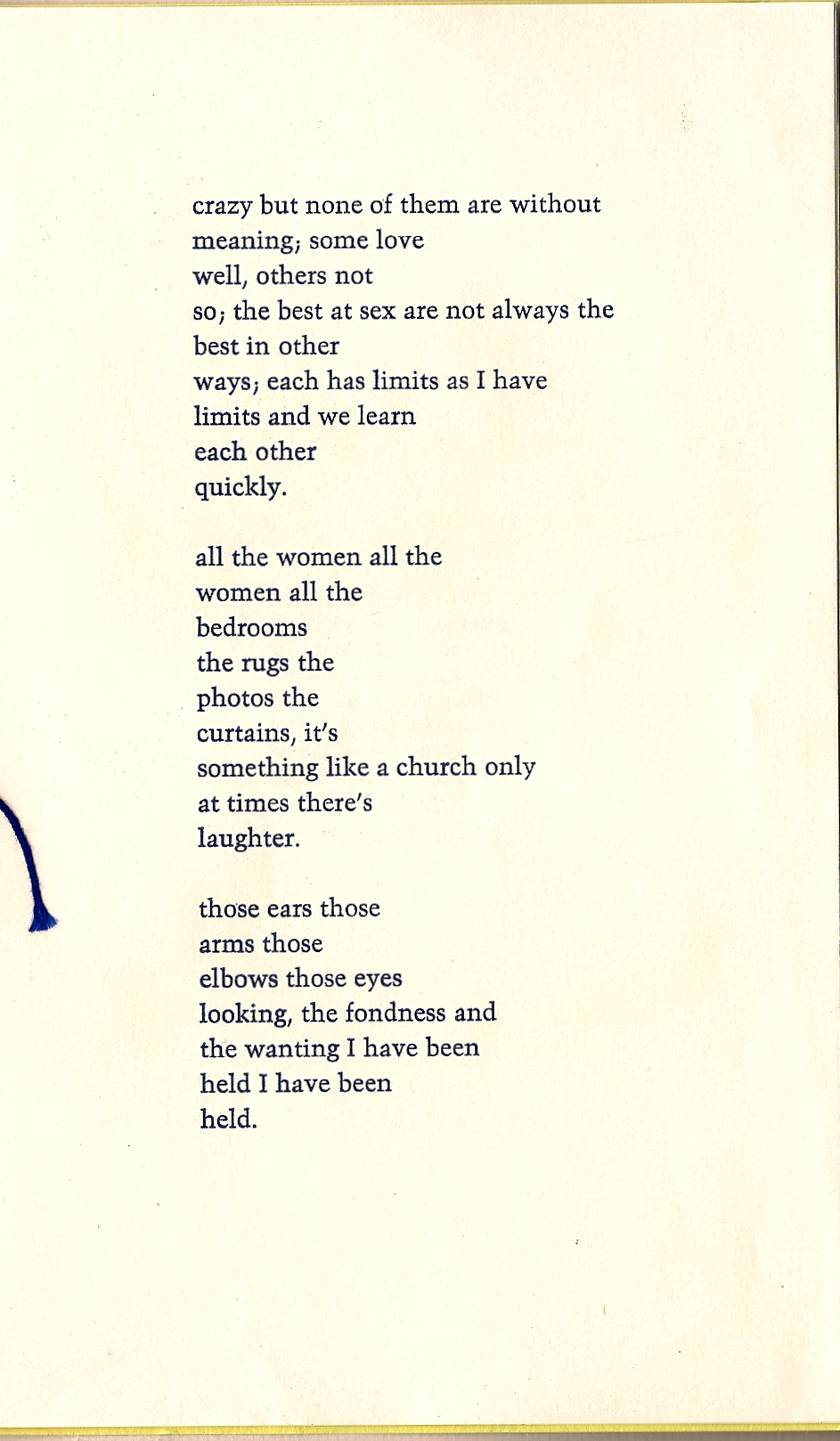 Bukowski A Love Poem Innocnts