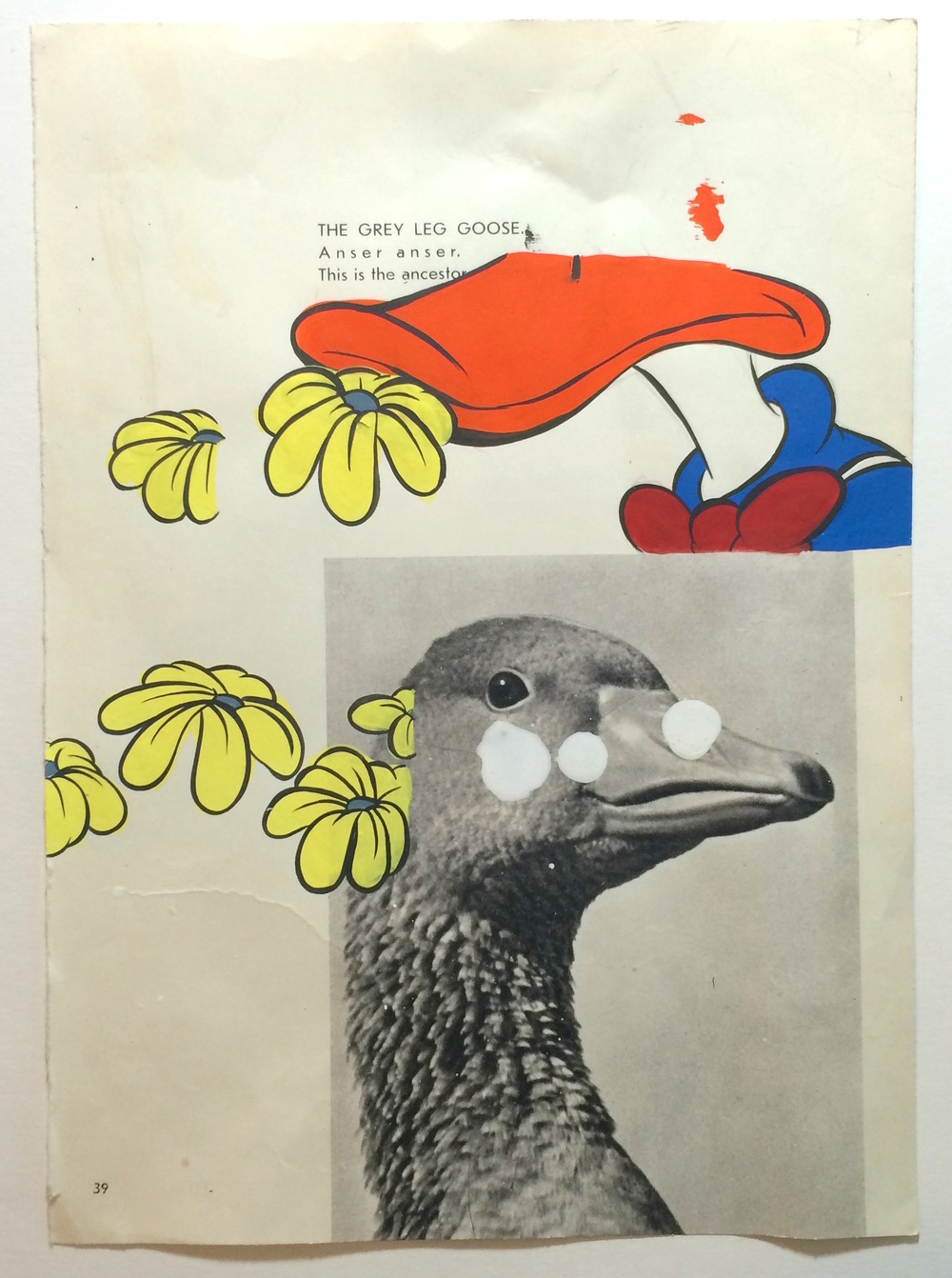 AARON ELVIS JUPIN We Can Talk About Flowers Later, 2015 Cell vinyl on found paper 11 x 5.5 inches (framed) $600