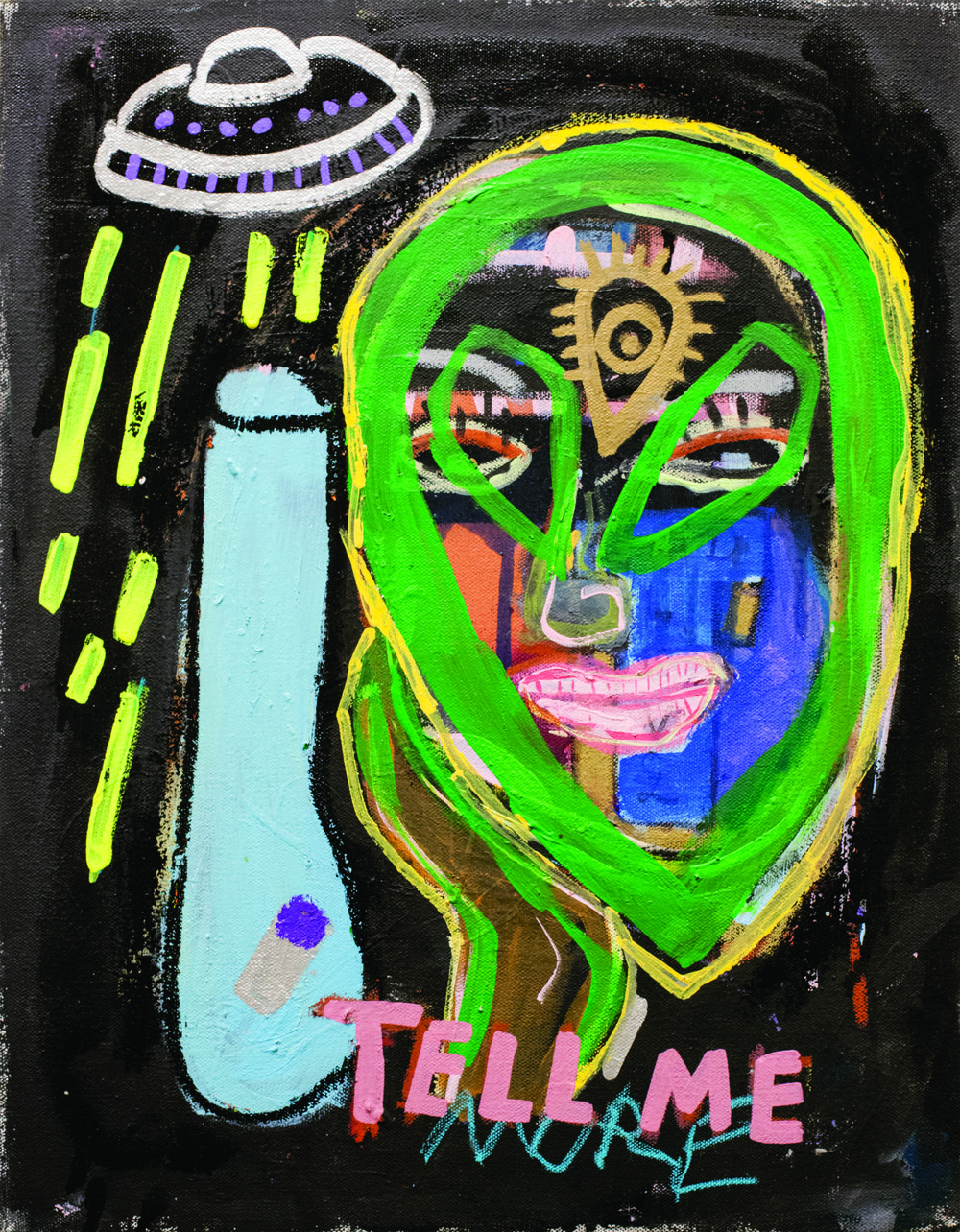 SEAN TULLY // TELL ME MORE // 2018 // ACRYLIC ON CANVAS // 24 X 18 INCHES