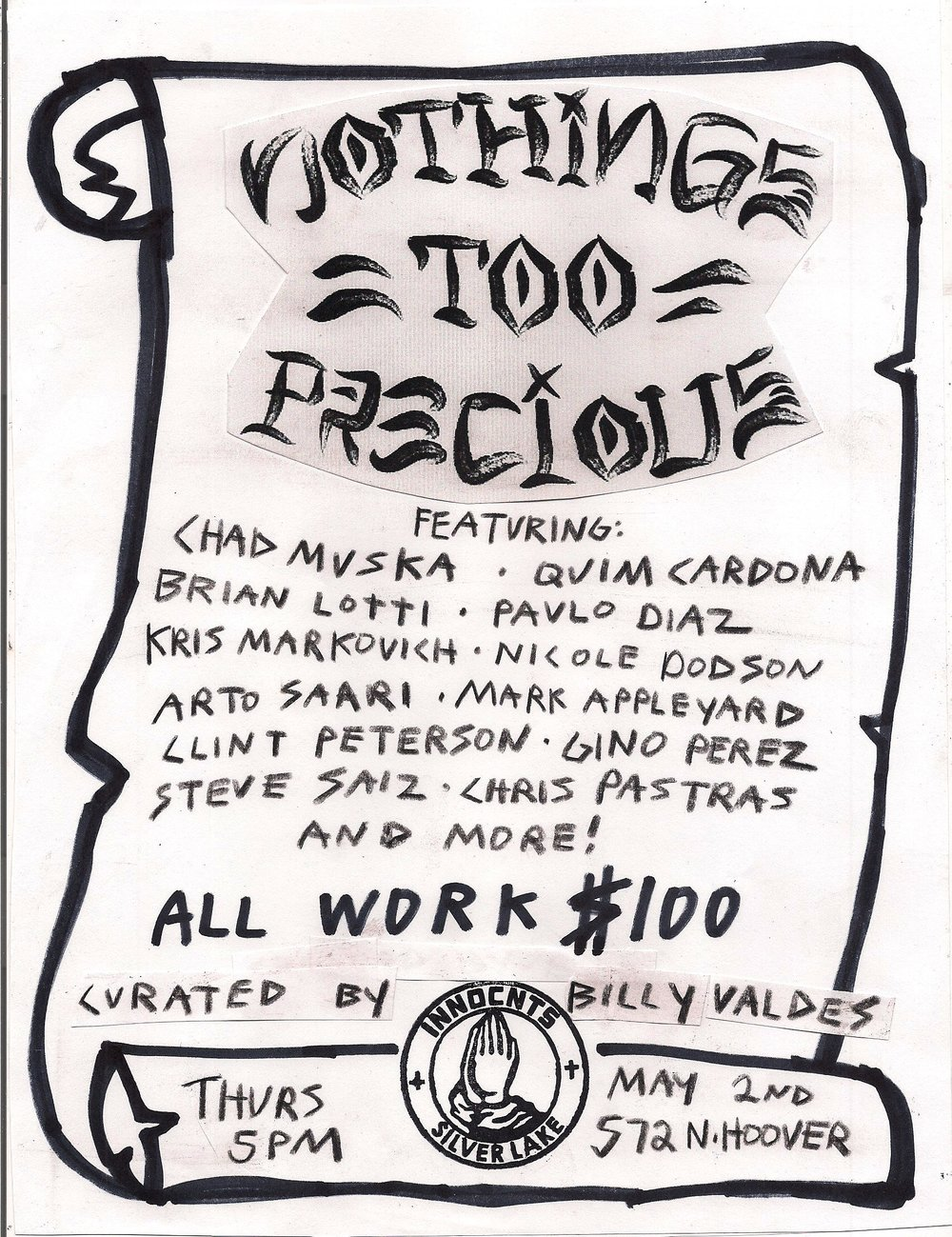 GROUP SHOW - NOTHING'S TOO PRECIOUS 1
