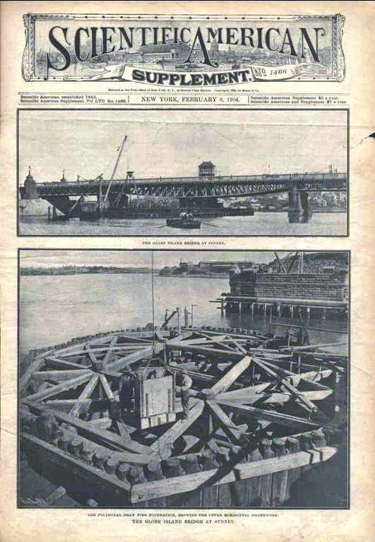 When the bridge was built it was of such significance that it was featured in this 1904 Supplement to The Scientific American.