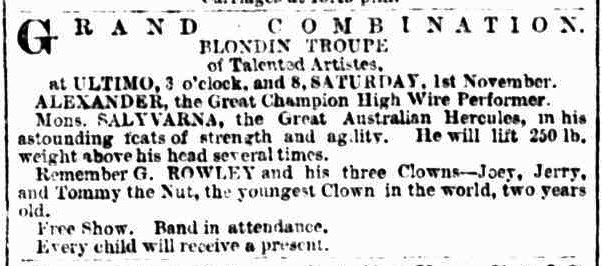 A fairground across the road from the pub  may well  be why the hotel was built.     Sydney Morning Herald      1879